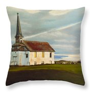 Abondoned Church Throw Pillow