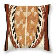 Aboriginal Bark Painting  Throw Pillow