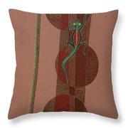 Aboriginal Lizard Throw Pillow