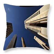Aboriginal Sound Poles Throw Pillow