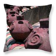 Aboriginal Wall Design Throw Pillow by Yali Shi
