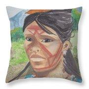 Mujer Indigena Throw Pillow