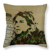 About A Girl Throw Pillow