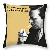 About Action Throw Pillow