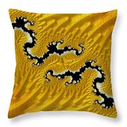 About Mountains And Rivers - Abstract Throw Pillow