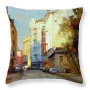 About The Arbat. Plotnikov Lane. Throw Pillow