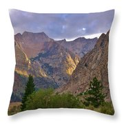 About The Light Throw Pillow