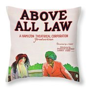 Above All Law Throw Pillow