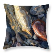 Above And Below Water Two  Throw Pillow