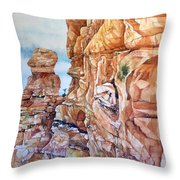 Above Canyonlands Campground Throw Pillow