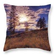 Above Lake Okanagan Throw Pillow