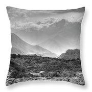 Above Muktinath, Nepal Throw Pillow