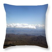 Above Nevada Throw Pillow