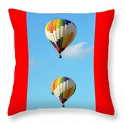 Above One Another Throw Pillow