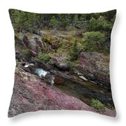 Above Redrock Falls Throw Pillow