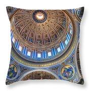Above Saint Peters Throw Pillow