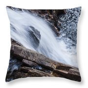 Above Small Falls Throw Pillow