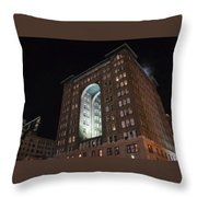 Above The Byham Theater Throw Pillow