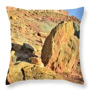 Above The Campground Throw Pillow