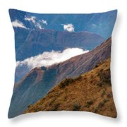 Above The Clouds In The Andes Throw Pillow