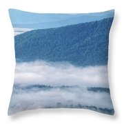 Above The Clouds Panoramic Throw Pillow