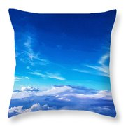 Above The Clouds Sky Is Always Blue Throw Pillow