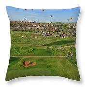 Above The Course Throw Pillow