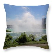 Above The Falls 3 Throw Pillow