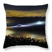 Above The Fog Throw Pillow