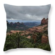Above The Red Rocks Of Sedona  Throw Pillow