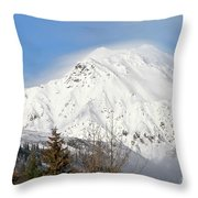 Above The Tree Line Throw Pillow