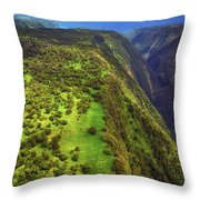 Above The Valleys Throw Pillow