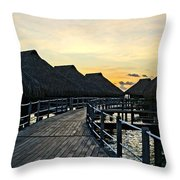 Above The Water II Throw Pillow