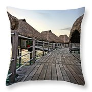 Above The Water Throw Pillow