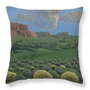 Above Tohdildon Wash Throw Pillow