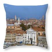 Above Venice Throw Pillow