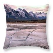 Abraham Lake Ice Sheets Throw Pillow