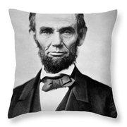 Abraham Lincoln -  Portrait Throw Pillow