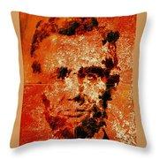 Abraham Lincoln 4d Throw Pillow