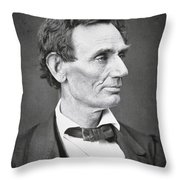 Abraham Lincoln Throw Pillow by Alexander Hesler