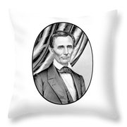 Abraham Lincoln Circa 1860 Throw Pillow by War Is Hell Store