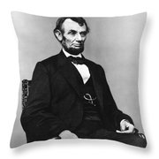 Abraham Lincoln Portrait - Used For The Five Dollar Bill - C 1864 Throw Pillow