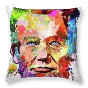 Abraham Lincoln Portrait Throw Pillow
