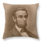 Abraham Lincoln - Savior Of His Country Throw Pillow