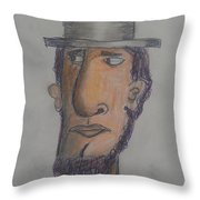 Abraham Lincoln Throw Pillow by Sonya Wilson