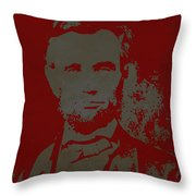 Abraham Lincoln The American President  Throw Pillow