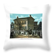 Abraham Lincoln's Return Home Throw Pillow