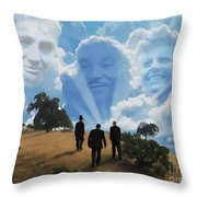 Abraham Martin And John Throw Pillow