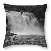 Abrams Falls Cades Cove Tn Black And White Throw Pillow