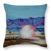 Abrams Firing Throw Pillow